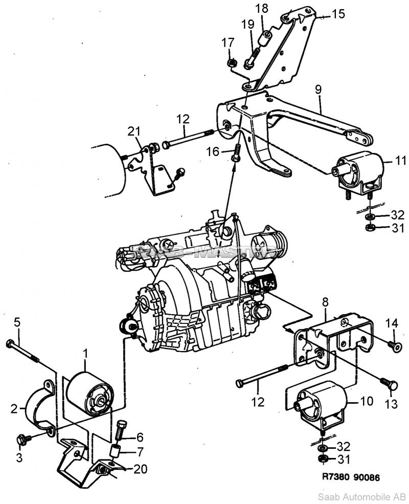 tecnoservizisaab ricambi nuovi ed usati per saab storiche Mitsubishi Starion Wiring Diagram attacco motore 9367988